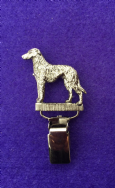 Dog Show Breed Ring Number Clip - Deerhound - FULL BODY Silver or Gold Style